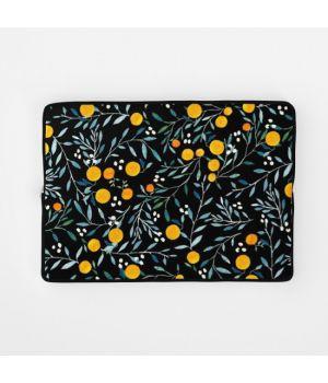 Стильный чехол для ноутбука Oranges black