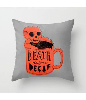 Подушка Death Before Decaf