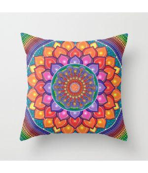 Подушка Lotus Rainbow Mandala