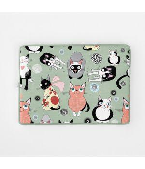 Стильный чехол для ноутбука Котики