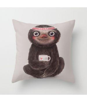Подушка на диван Sloth I♥yoga