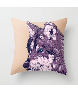 Декоративная подушка Blue eyed wolf