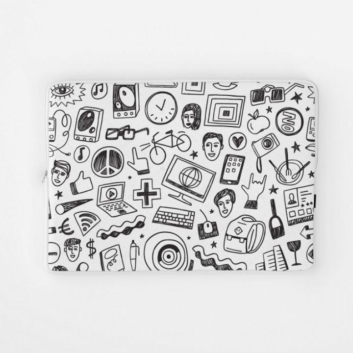 Стильный чехол для ноутбука хипстерский узор 1