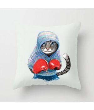 Декоративная подушка Boxing Cat