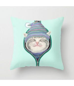 Декоративная подушка Cat in the zip
