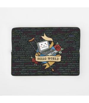 Стильный чехол для ноутбука hello world