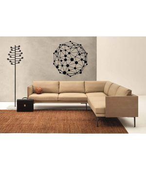 Кристалічна решітка - абстракція, 50х50 см, Чорна
