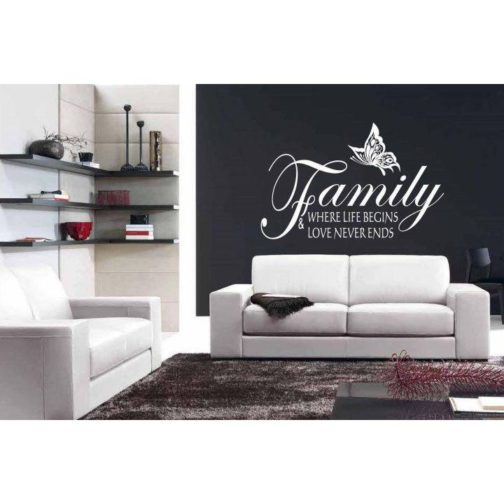 Виниловая наклейка Семья навсегда, 120х75 см, Белый