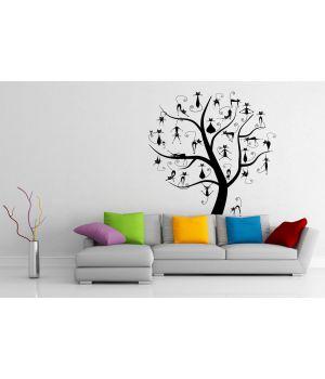 """Дерево """"Котів багато не буває"""", 96х130 см Чорний"""
