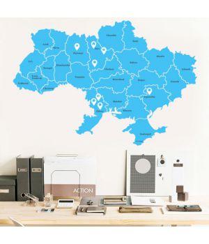 """Интерьерная наклейка """"Карта Украины"""""""
