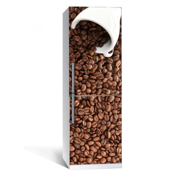 """Интерьерная наклейка """"Кофе"""" на холодильник"""