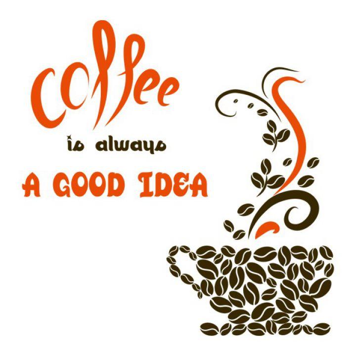 Вінілова Наклейка Glozis Coffee a Good Idea