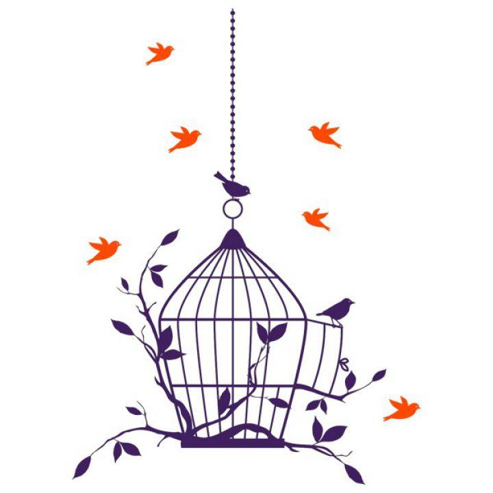Интерьерная Наклейка Glozis Birdcage