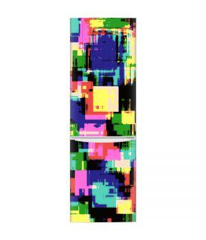 Наклейка на холодильник - Цветной взрыв