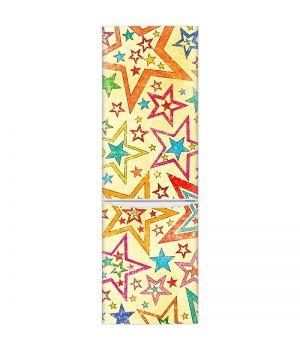 Наклейка на холодильник - Красочные звезды