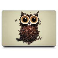 """Универсальная наклейка на ноутбук 15.6""""-13.3"""" Coffee Owl Матовая 380х250 мм"""