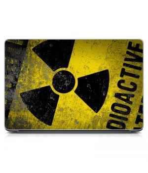 """Универсальная наклейка на ноутбук 15.6""""-13.3"""" Radioactive Матовая 380х250 мм"""