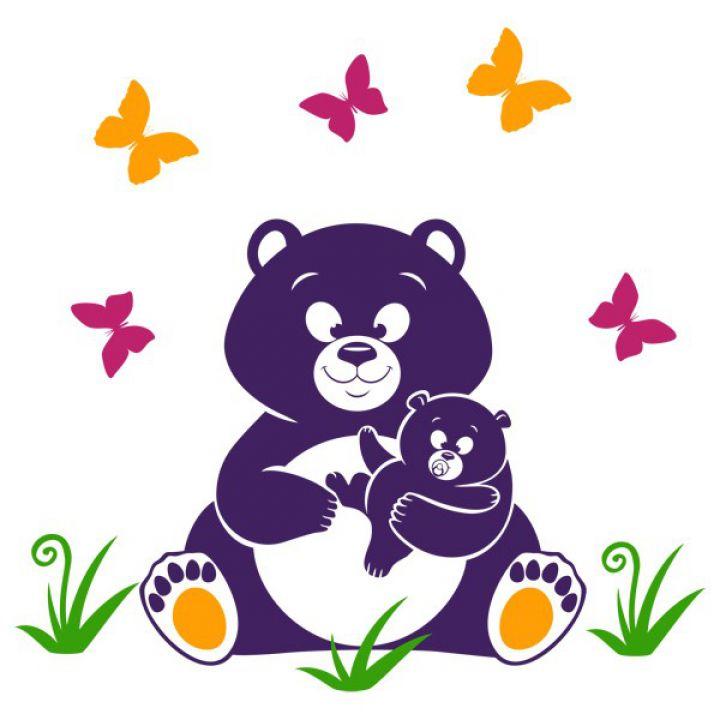 Интерьерная Наклейка Glozis Bear