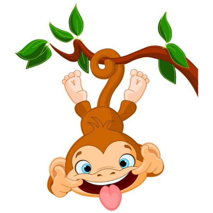 Интерьерная Наклейка Glozis Funny Monkey