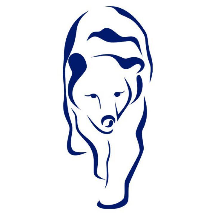 Интерьерная Наклейка Glozis Polar Bear