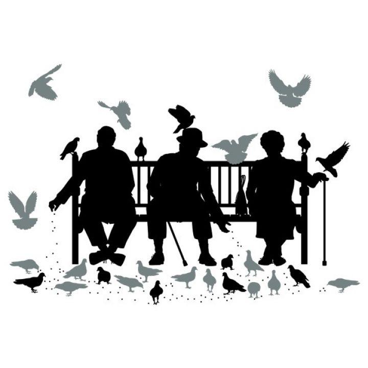 Вінілова Наклейка Glozis Trio on the Bench