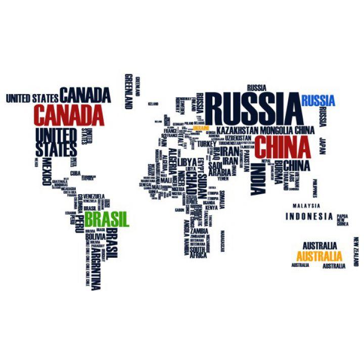 Виниловая Наклейка Glozis World Map