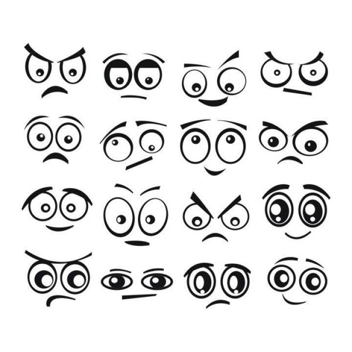 Інтер'єрна Наклейка Glozis Funny Eyes