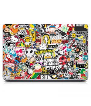 """Универсальная наклейка для ноутбука, 13.3""""-15.6"""" 380x250 мм Stickerbomb матовая"""