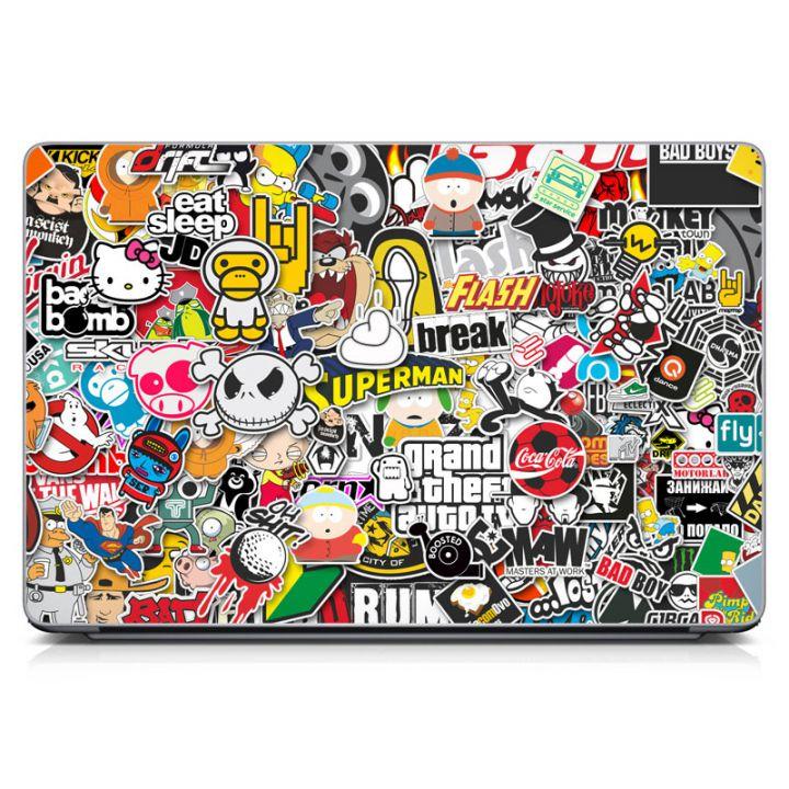 """Универсальная наклейка для ноутбука, 13.3""""-17.3"""" 400x260 мм Stickerbomb матовая"""
