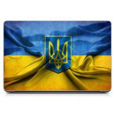 """Универсальная наклейка для ноутбука, 13.3""""-17.3"""" 400x260 мм Герб Украины"""