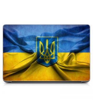Наклейка на ноутбук - Герб Украины