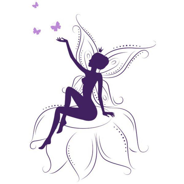 Вінілова Наклейка Glozis Fairy on Flowers