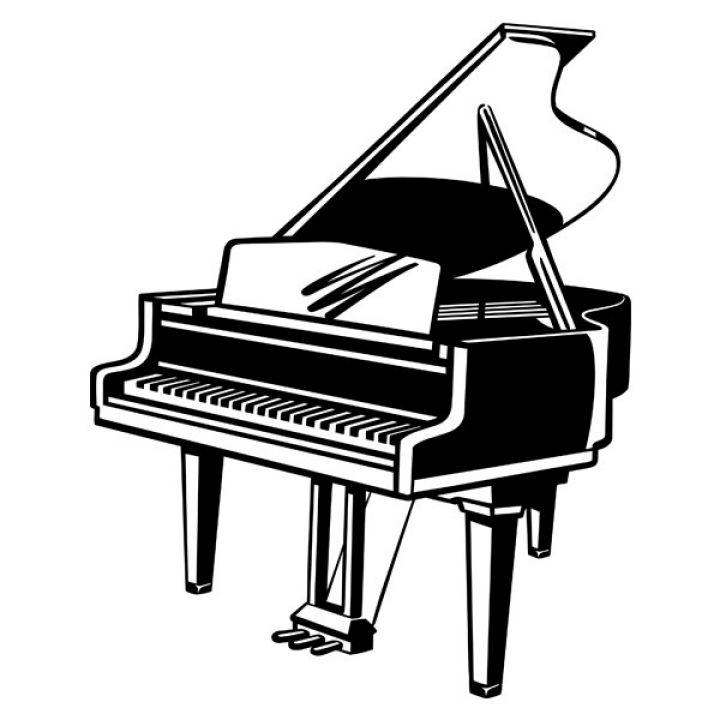 Интерьерная Наклейка Glozis Piano