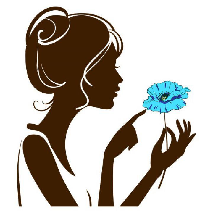 Интерьерная Наклейка Glozis Girl with Flower