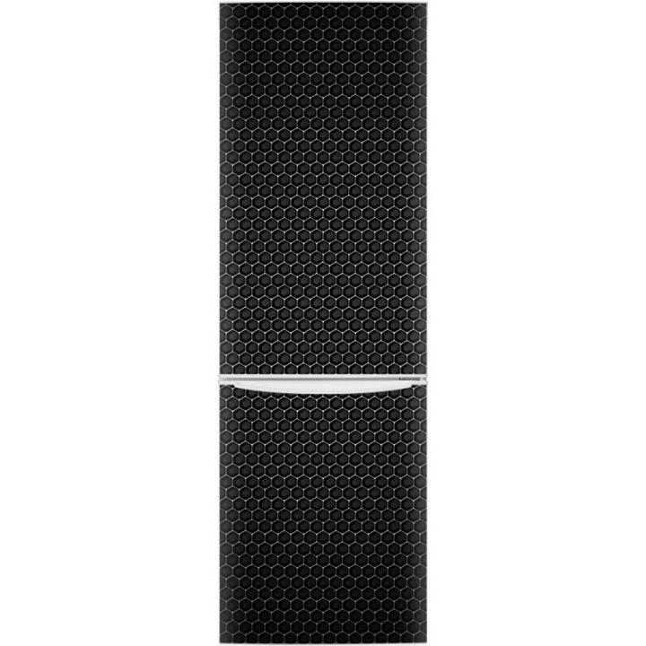 Наклейка на холодильник - Черный металл