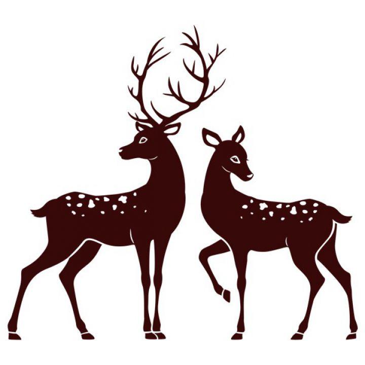 Вінілова Наклейка Glozis Deer