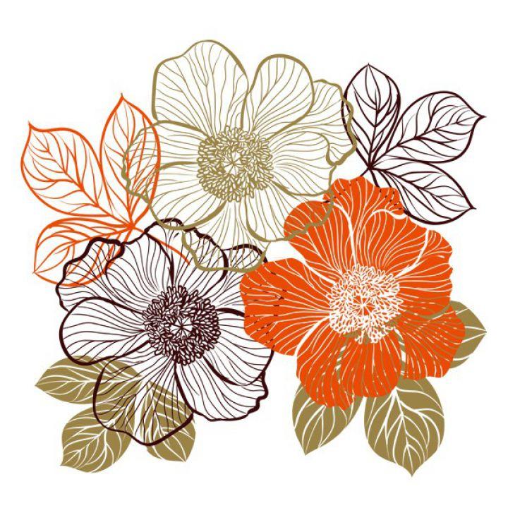 Інтер'єрна Наклейка Glozis Bouquet