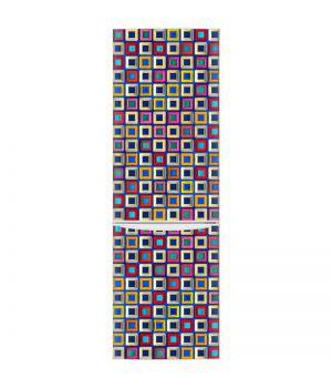 Наклейка на холодильник - Цветные кубики