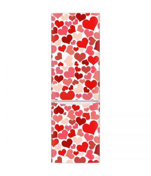 Наклейка на холодильник - Сладкие сердца