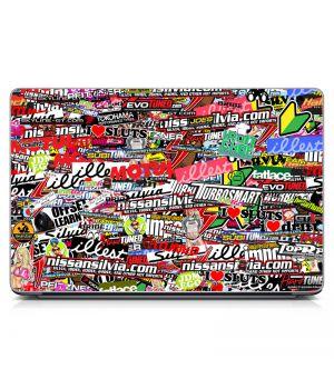 "Универсальная наклейка на ноутбук 15.6""-13.3"" Stickerbomb Tuned Матовая 380х250 мм"
