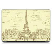 Наклейка на ноутбук - Sketch Eiffel