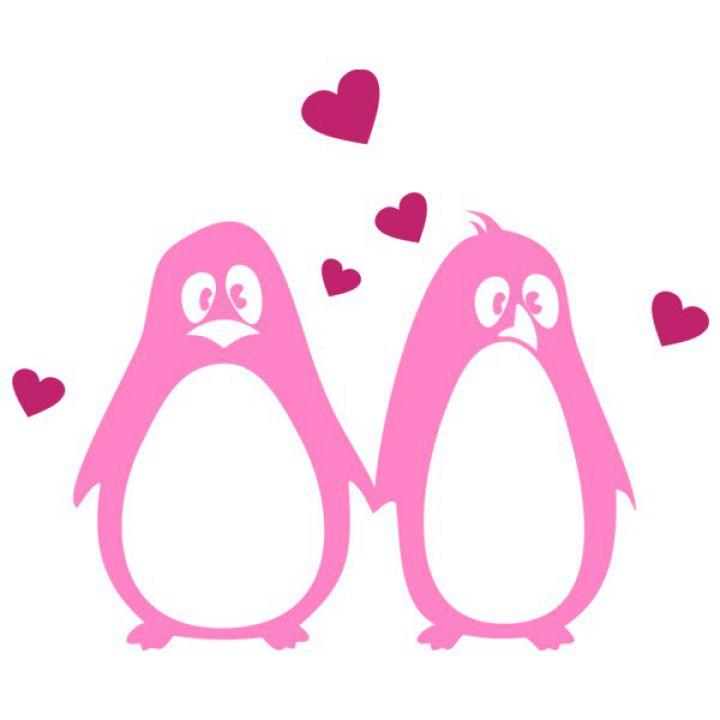Интерьерная Наклейка Glozis Penguins in Love