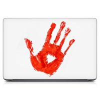 Наклейка на ноутбук - Bloody Hand