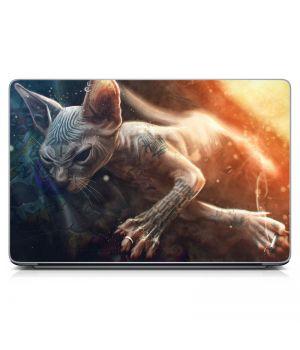 "Универсальная наклейка на ноутбук 15.6""-13.3"" Angry Cat 380х250 мм"