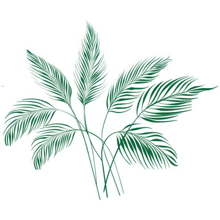 Вінілова Наклейка Glozis Palm Leaves