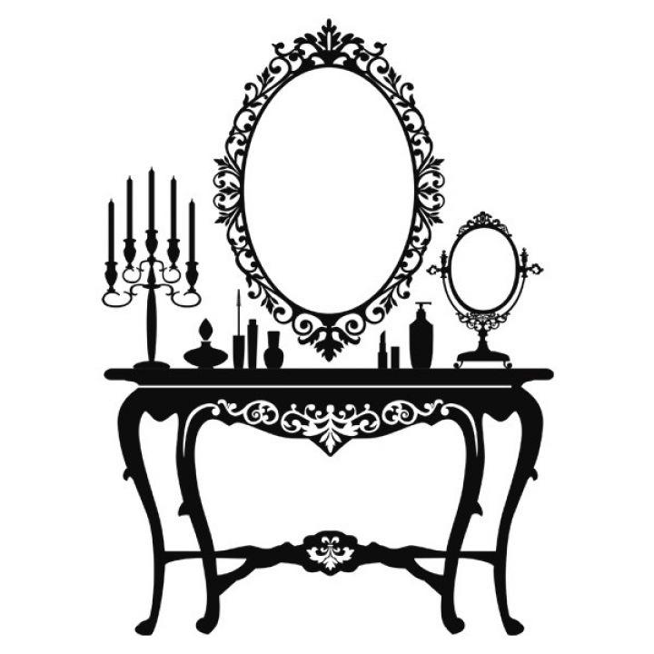 Вінілова Наклейка Glozis Dressing Table