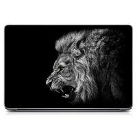 """Универсальная наклейка на ноутбук 15.6""""-13.3"""" Angry Lion 380х250 мм"""