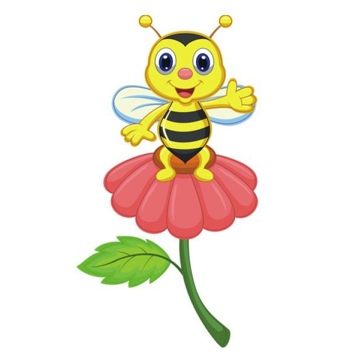 Интерьерная Наклейка Glozis Bee on a Flower