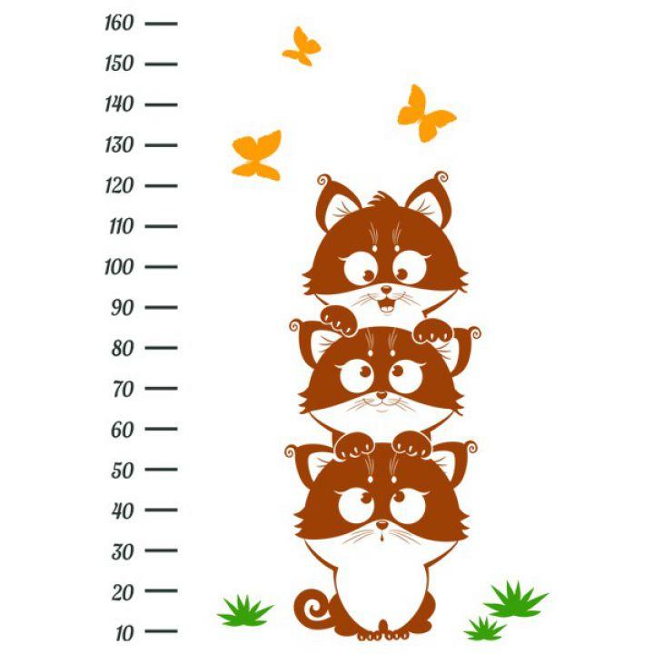 Інтер'єрна Наклейка Glozis Funny Kittens