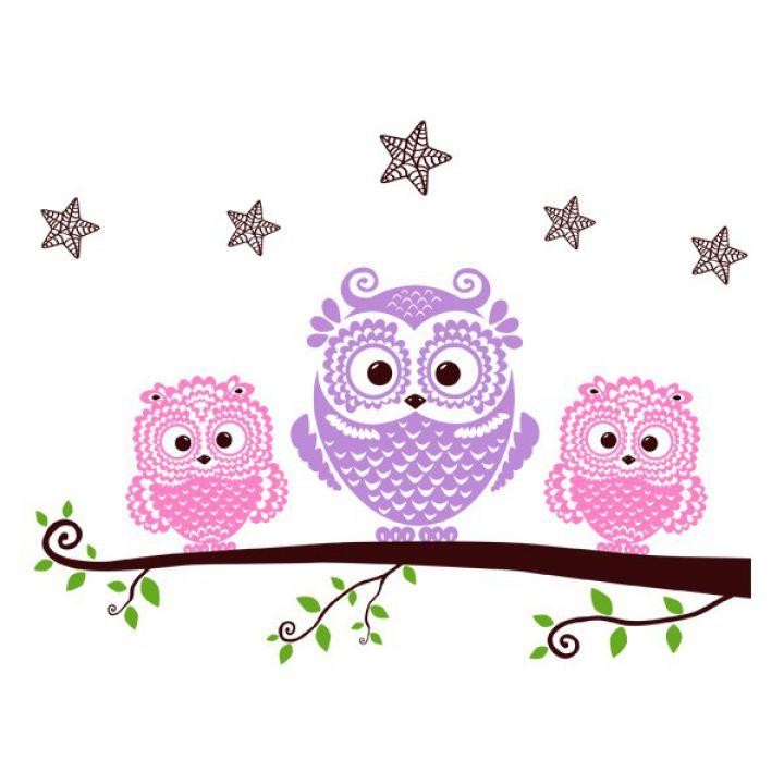 Вінілова Наклейка Glozis Owls